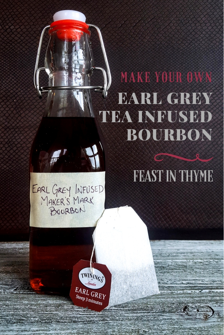 Earl Grey Tea Infused Bourbon | DIY Gift Tutorial