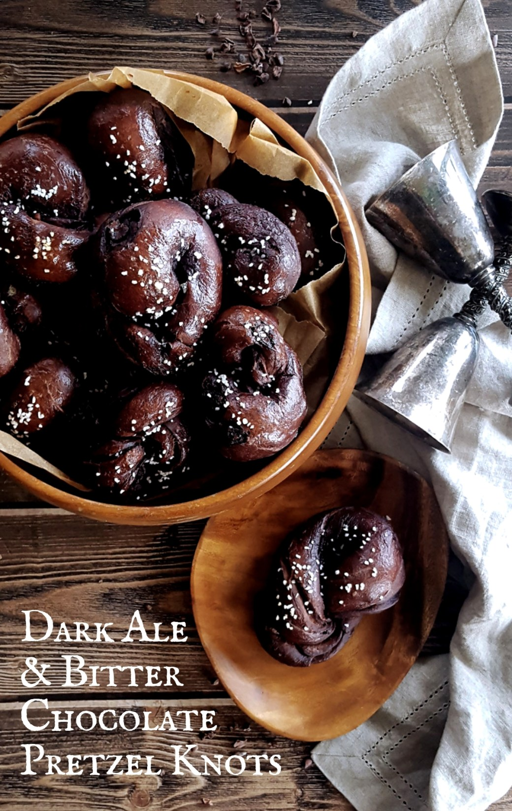 Dark Ale & Bitter Chocolate Pretzel Knots
