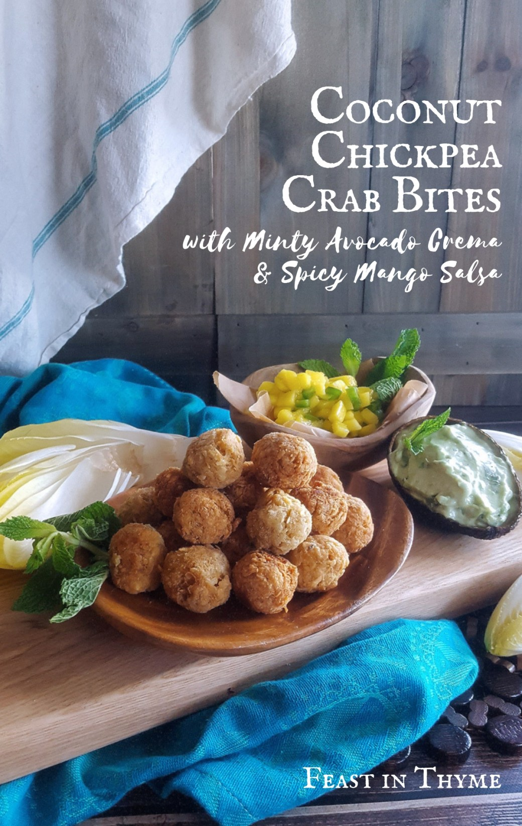 Coconut Chickpea Crab Bites in Endive Cups (Gluten-Free)