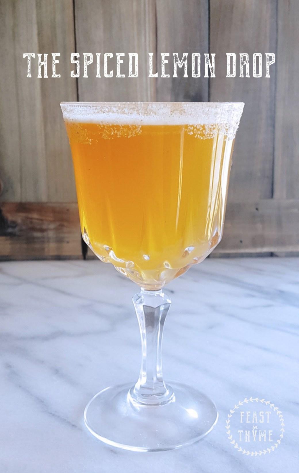 Spiced Lemon Drop Cocktail