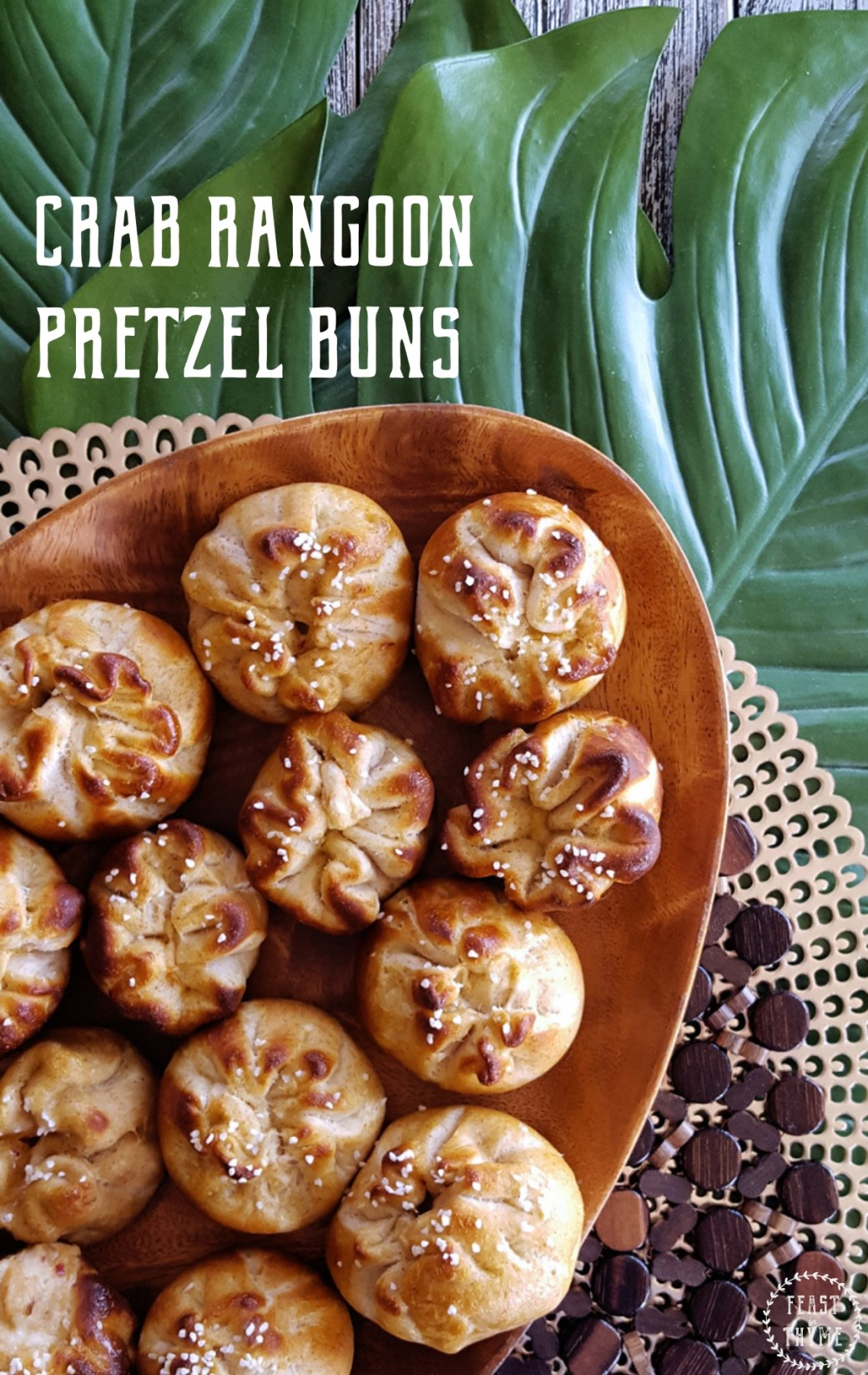 Crab Rangoon Pretzel Buns