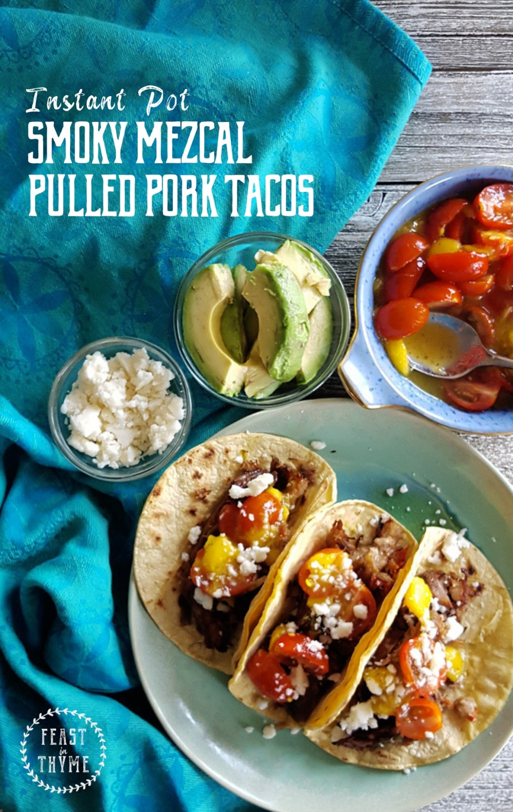 Instant Pot Smoky Mezcal Pulled Pork Tacos
