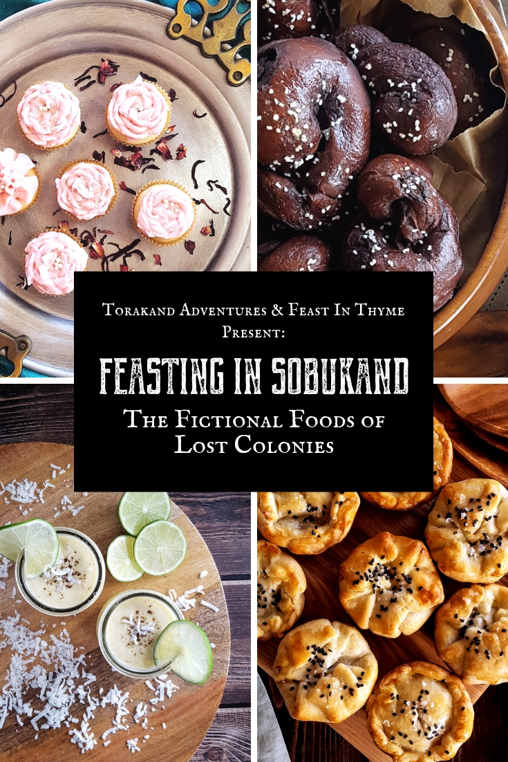 Enjoy a feast fit for royalty with this collection of fictional food recipes from the world of Lost Colonies. #larpfood #fantasyfood #fiction | FeastInThyme.com
