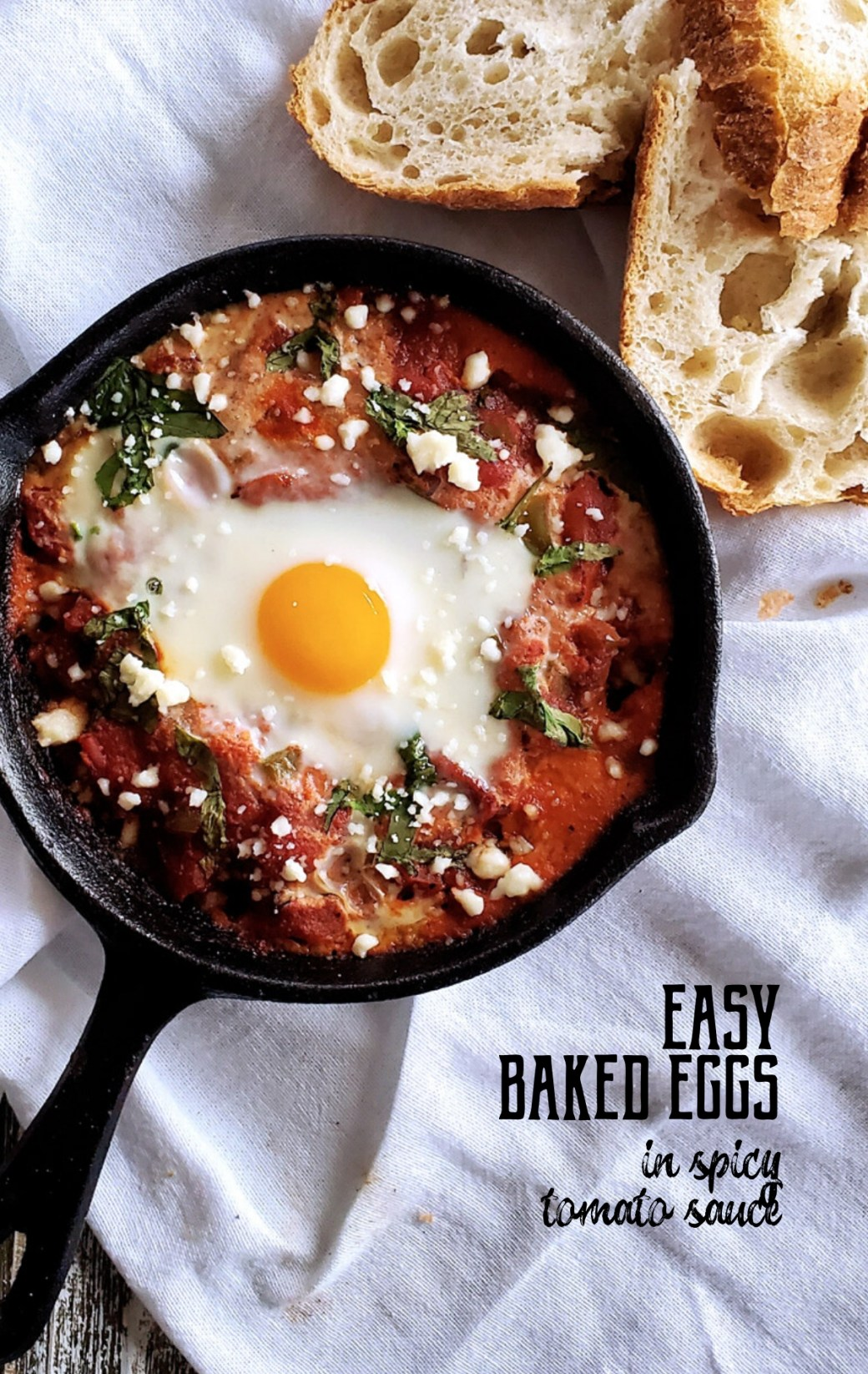 Easy Baked Eggs in Spicy Tomato Sauce