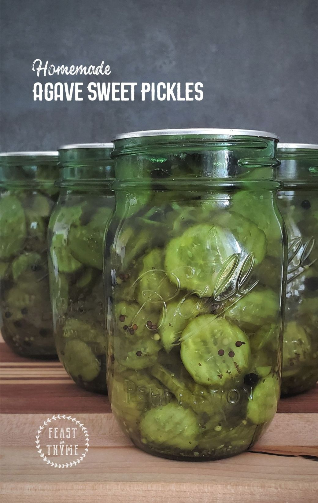 Homemade Agave Sweet Pickles