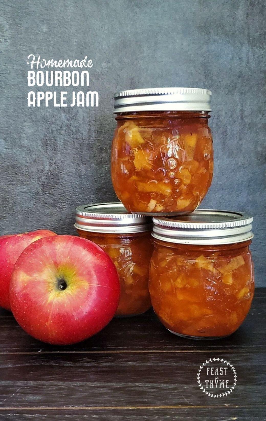 Homemade Bourbon Apple Jam
