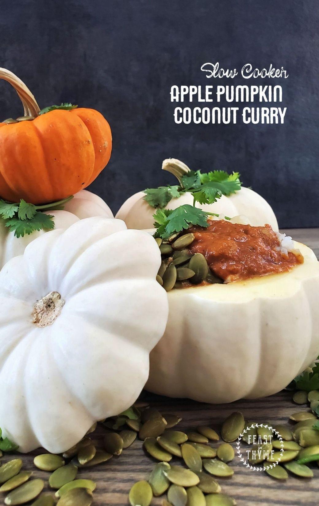 Easy Sweet Apple Pumpkin Coconut Curry [Vegetarian]
