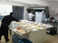 9 The food is almost ready