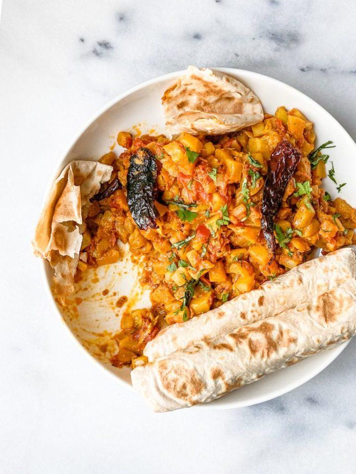 Zucchini(Courgette) Curry.