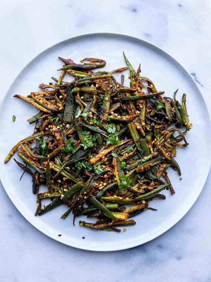 Bhindi ki Sabzi. Okra stir fry recipe.