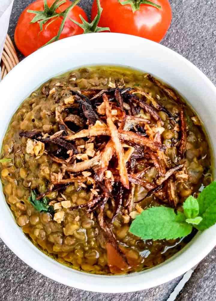InstantPot Brown Lentil Recipe. Whole masoor daal recipe.