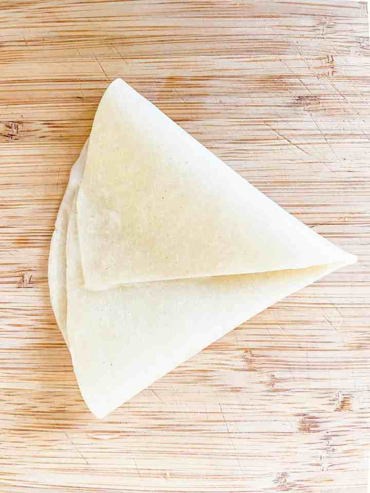 fold into triangle.