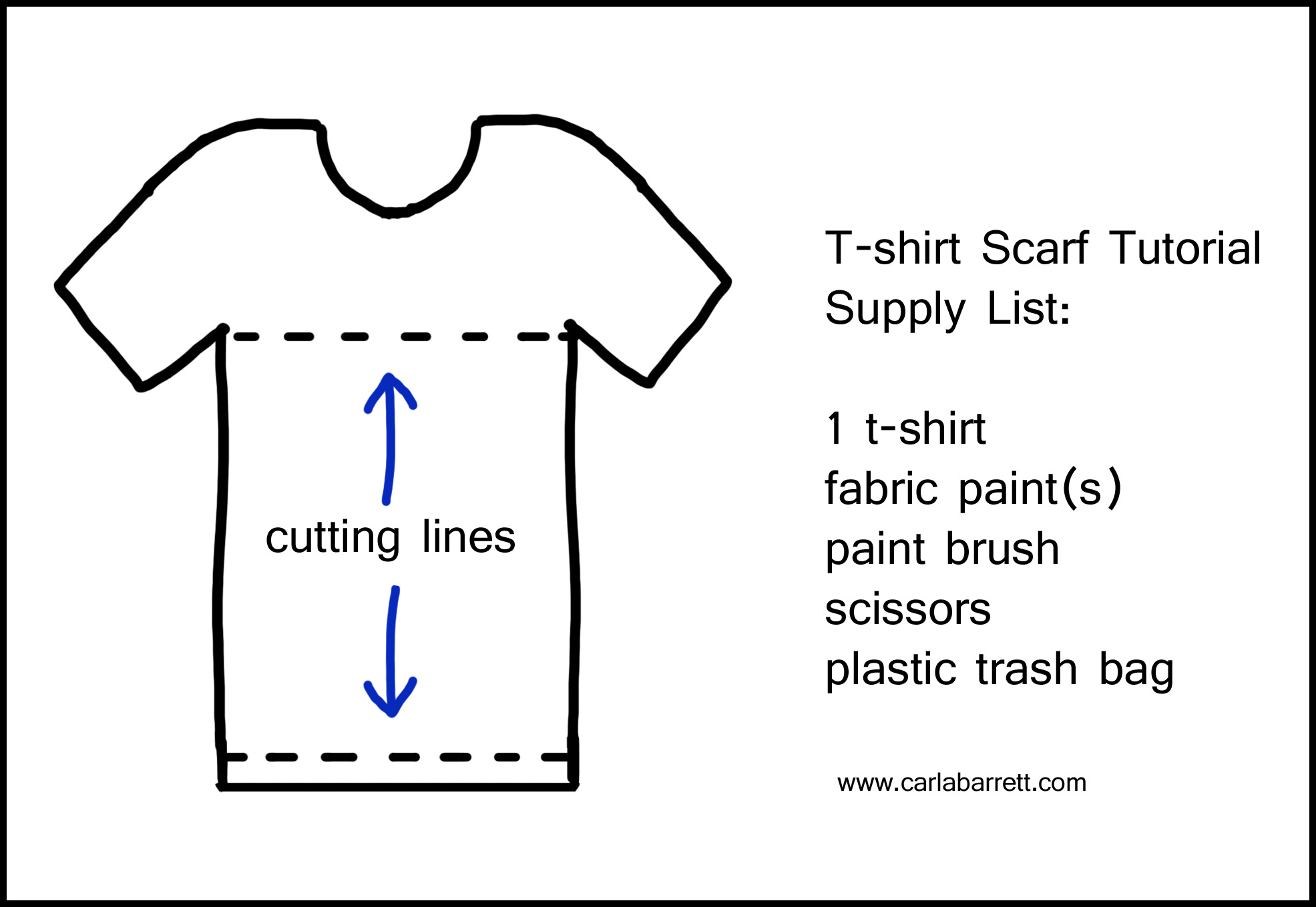 Recycled T Shirt Scarf Tutorial