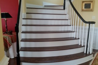 Stairs and banister after refinishing