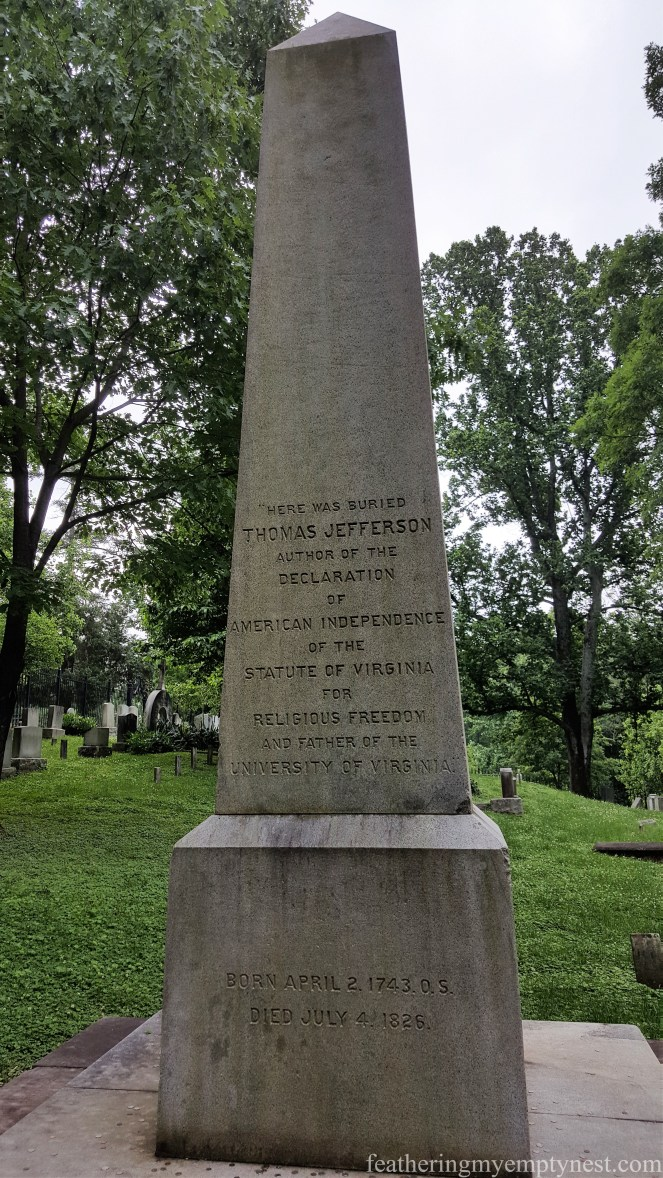Jefferson's grave marker -- History Geeks' Tour of Monticello