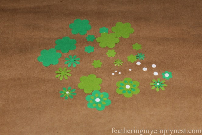 Punched out paper flowers-How To Embellish Chinese Paper Lanterns--featheringmyemptynest.com
