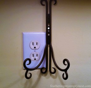 Plate Hanger Hung Over Outlet
