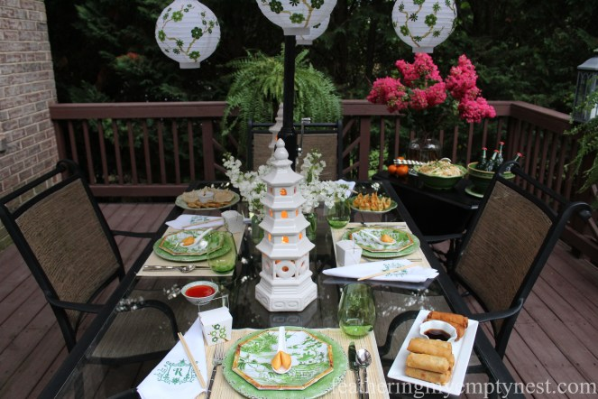 Dim Sum On The Deck: A Chinese Takeout Dinner Party--featheringmyemptynest.com