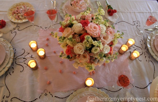 Candlelit Valentine's tablescape --How To Use The Language Of Flowers To Create A Blooming Valentine's Dinner