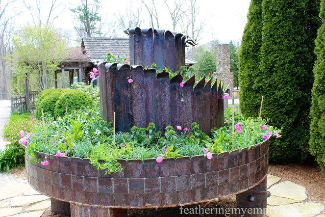 The Bee Spiral sculpture at the NC Arboretum --A Spring Tour Of The Biltmore Estate Gardens