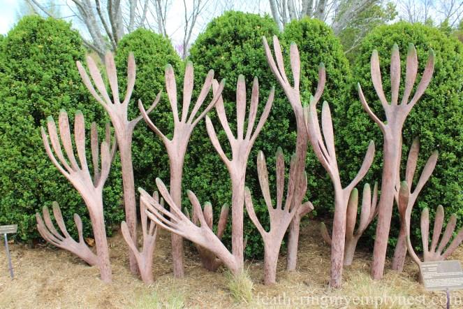 Hedge Against Extinction sculpture at the NC Arboretum --A Spring Tour Of The Biltmore Estate Gardens