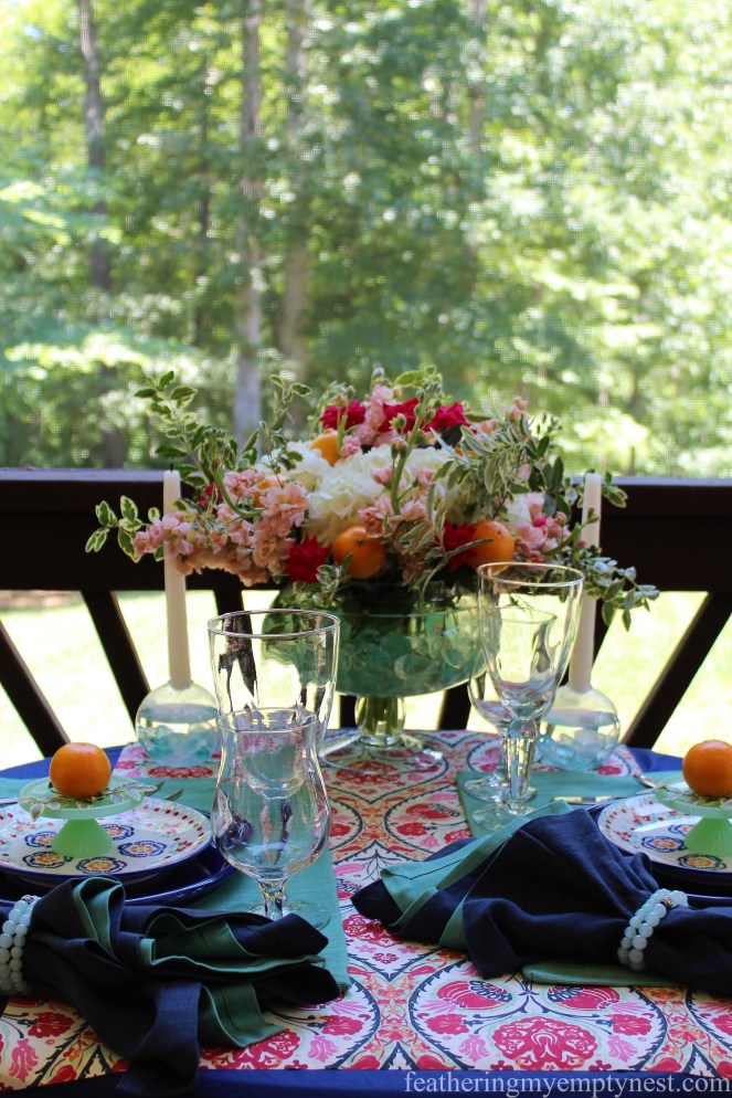 An Impromptu Outdoor Dining Table For Two
