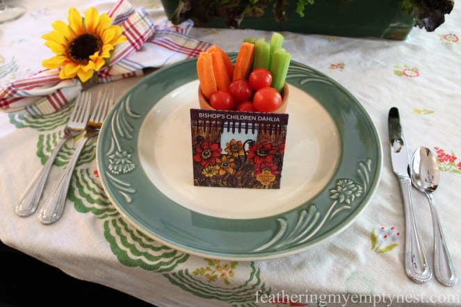 Place setting --Fall Harvest Tablescape