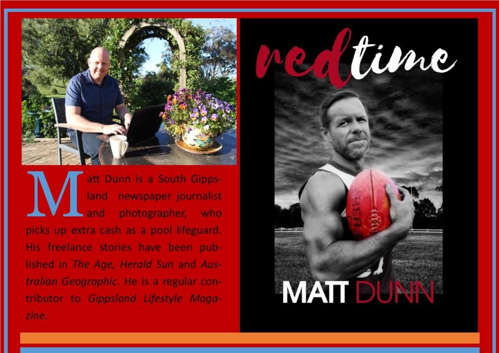 Matt Dunn, author of Red Time, author biography, Australian Fiction, New Release 2019, top Australian fiction books