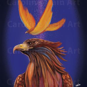 Fire Phoenix 8×10 Print