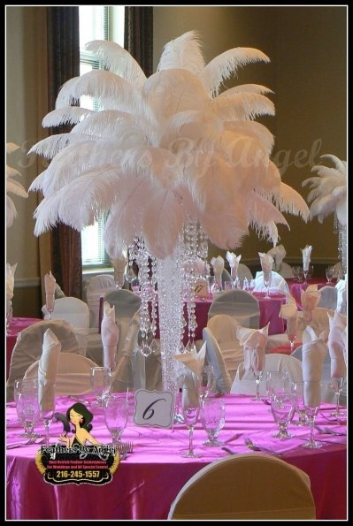 Ostrich Feather Centerpieces Feathers By Angels Blog