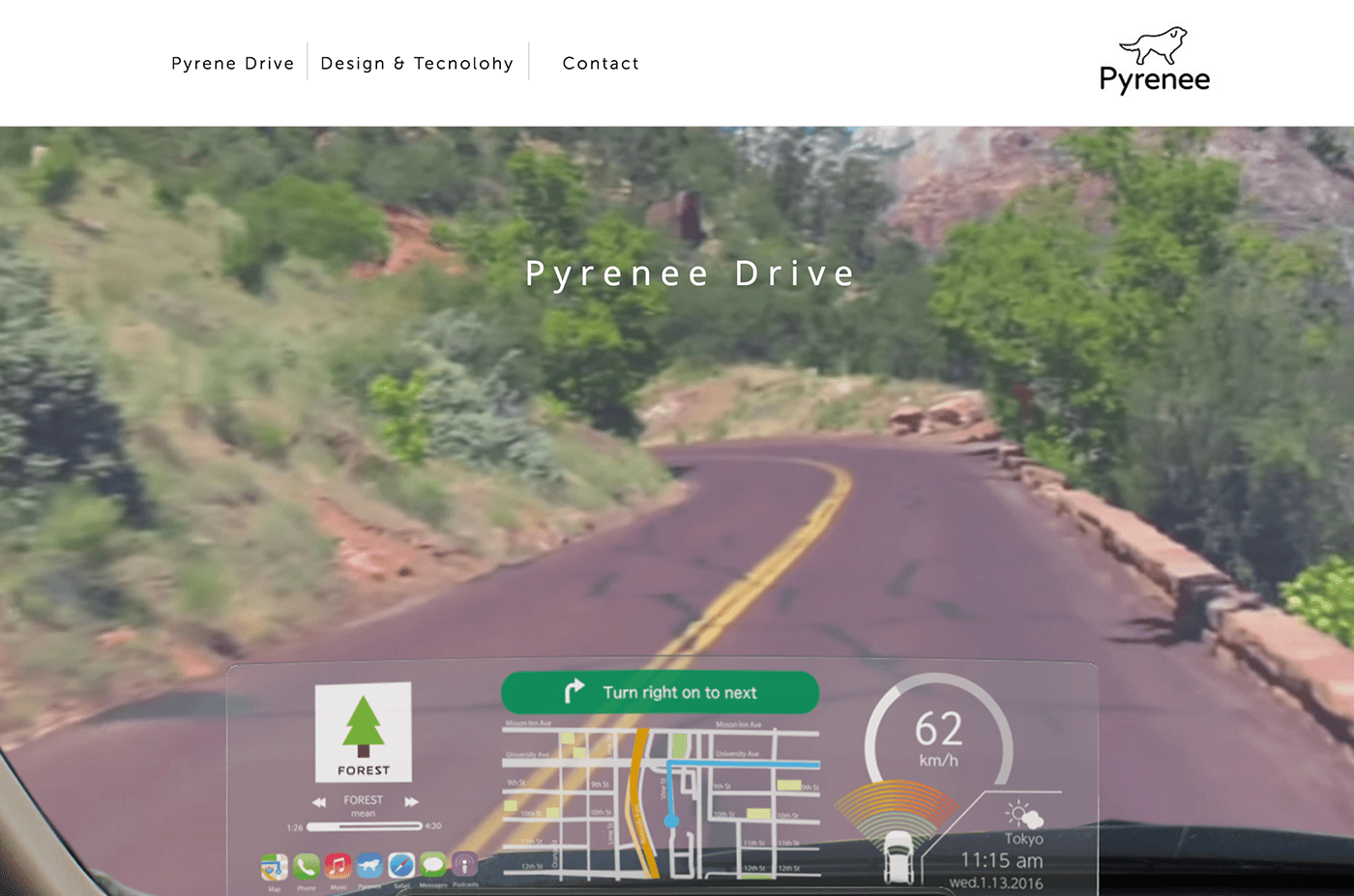 Pyrenee Drive Screen