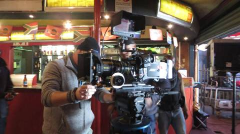 WYWL Cinematographer Amelia Henning sets up at Amadoda's