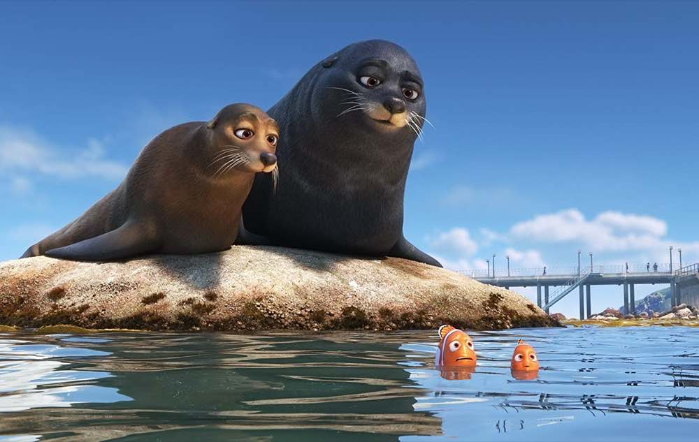 Finding Dory Nemo and Marlin with seals