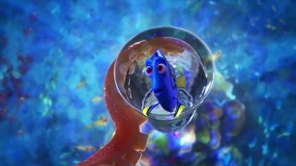 Finding Dory in a glass