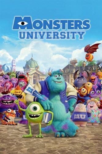 Monsters University 2013 movie poster