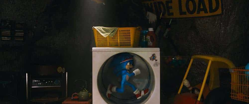 Sonic the Hedgehog Sonic running in a dryer
