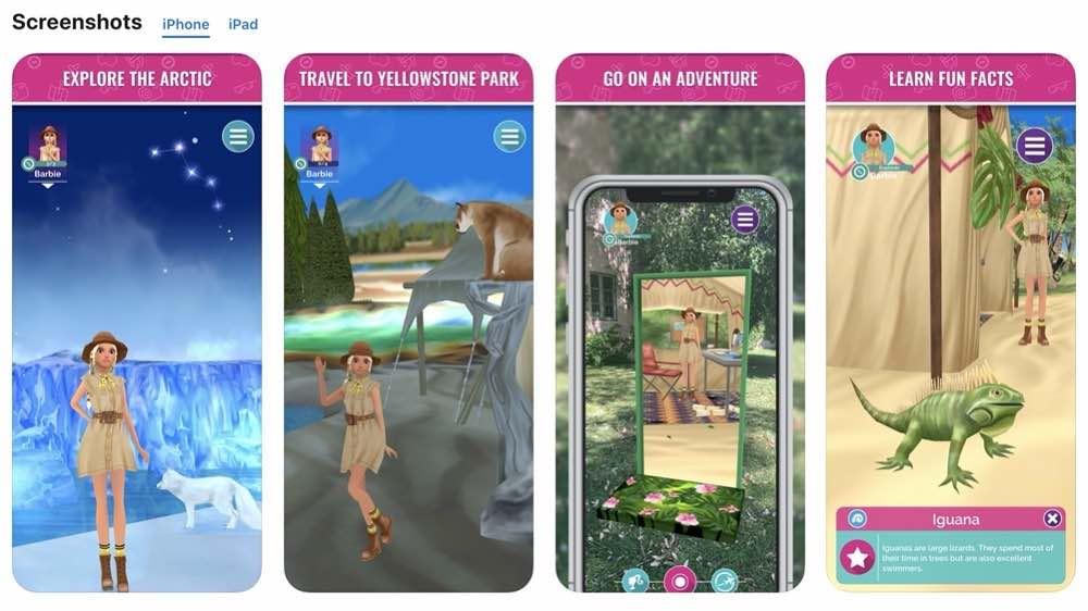 Barbie World Explorer app iphone screenshots images