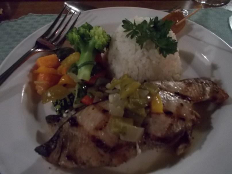 Tuna at the seafood restaurant