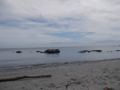 The beach at East Sooke.