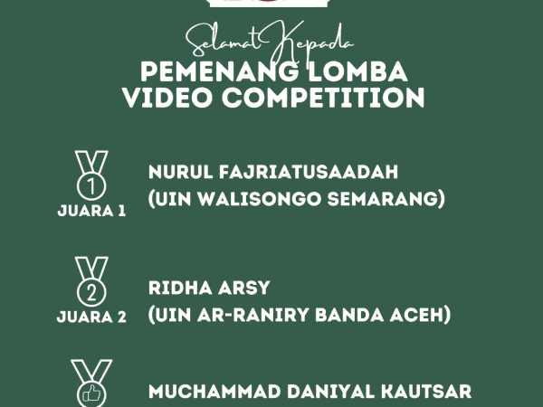 Mahasiswa Jurusan S1 Akuntansi  Syariah FEBI UIN Walisongo Semarang Sabet Juara 1 Nasional Lomba Video Competition