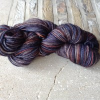 Hand dyed yarn - Volcano Blue