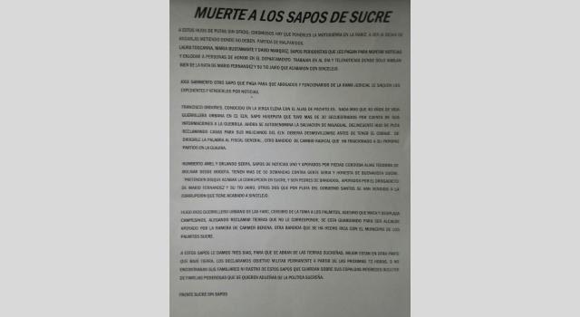 Amenaza Sucre