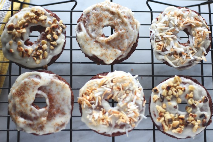 Paleo Carrot Cake Donuts - grain-free, dairy-free baked donuts with all the flavors of carrot cake! These donuts could be dessert or breakfast! | fedandfulfilled.com