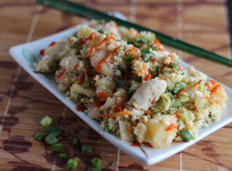 Cauliflower Fried Rice - classic Chinese takeout made healthy with cauliflower! | fedandfulfilled.com