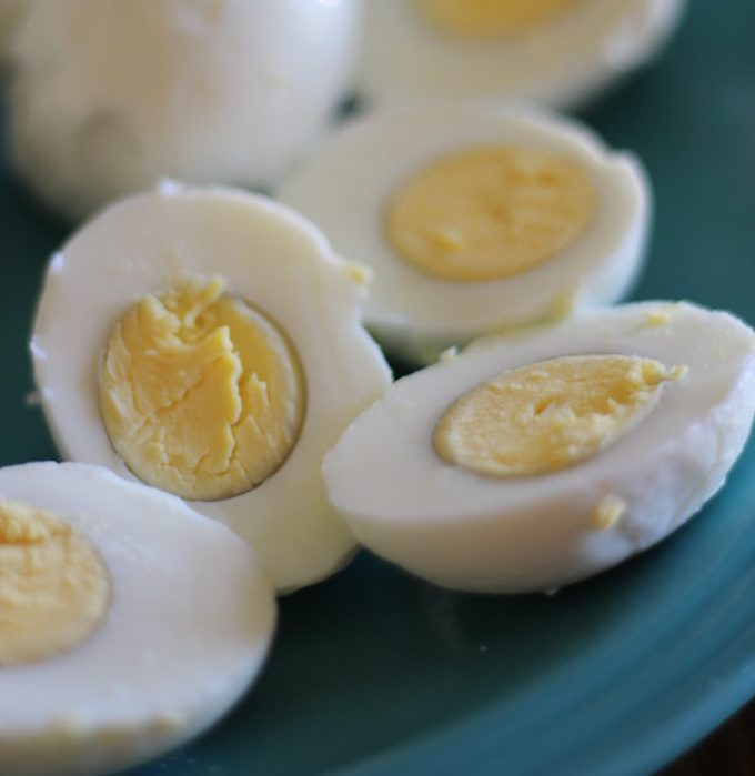 Buffalo Deviled Eggs - a kicked up deviled egg with celery, hot sauce, and blue cheese! It makes a great dip, too! | fedandfulfilled.com