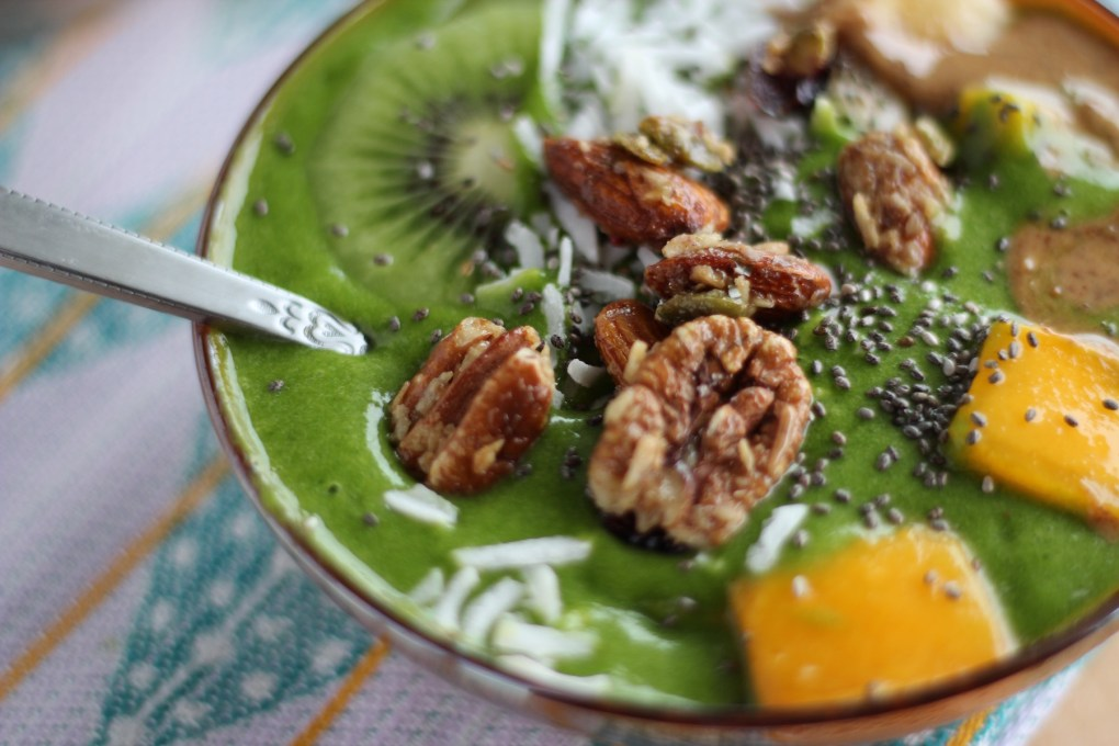 Spring Green Smoothie Bowls - smoothies are taken to a whole new level with loads of healthy, delicious toppings, and eaten with a spoon! | fedandfulfilled.com