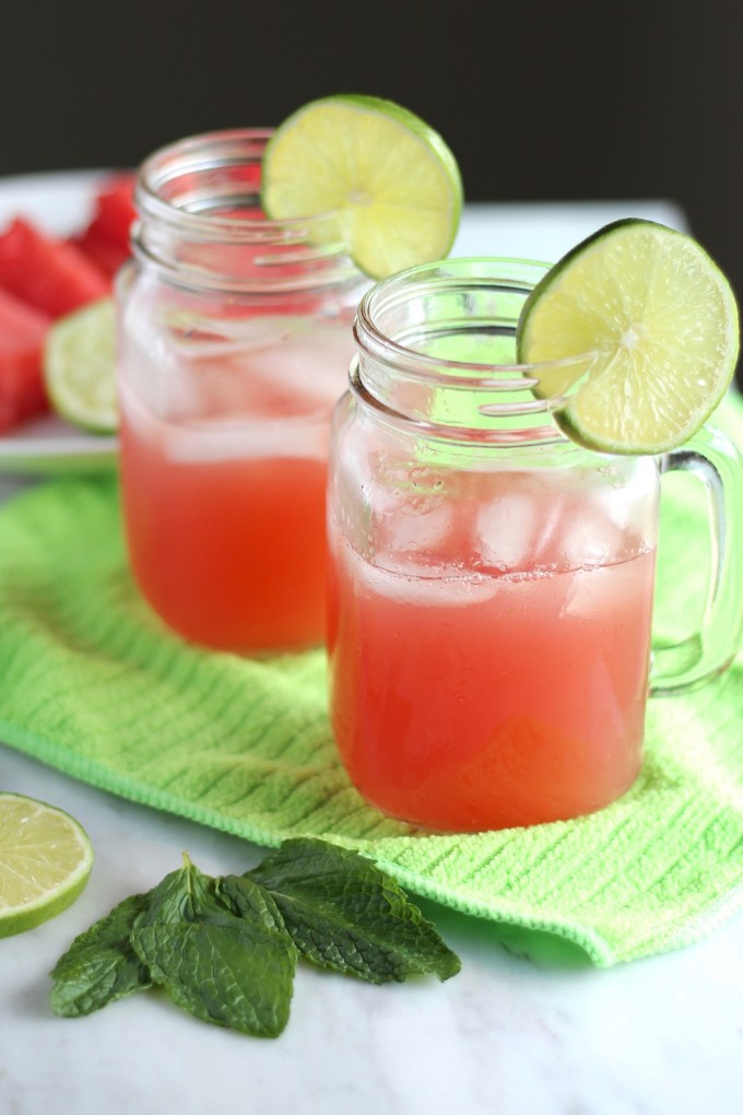 Sparkling Watermelon Mint Agua Fresca - a simple 5-ingredient beverage that is naturally fruit-sweetened and so refreshing and hydrating on hot days! | fedandfulfilled.com
