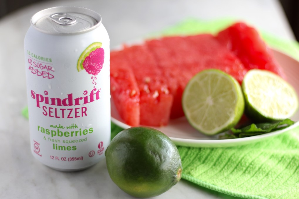 Sparkling Watermelon Mint Agua Fresca - juicy watermelon, fresh lime and mint, coconut water, and sparkling water create the perfect refreshing beverage for summer! | fedandfulfilled.com