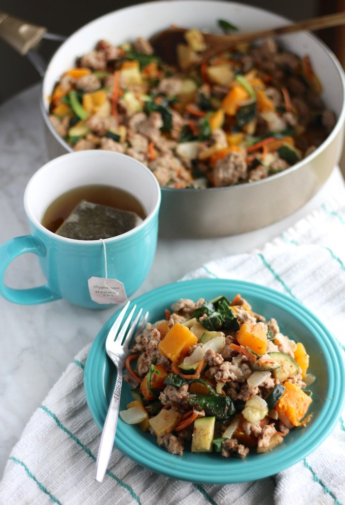 Turkey Apple Breakfast Hash - an AIP, paleo hash that is delicious, healthy, and will provide breakfast for the whole week! | fedandfulfilled.com