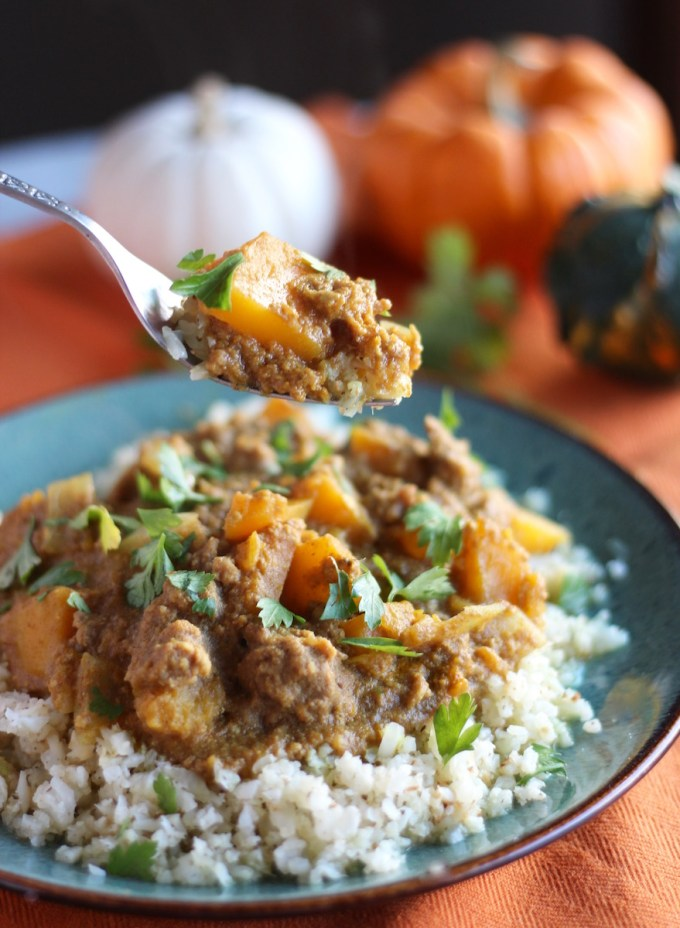 Top 10 Paleo Recipes of 2016 - Crockpot Beef Pumpkin Curry (AIP) | fedandfulfilled.com